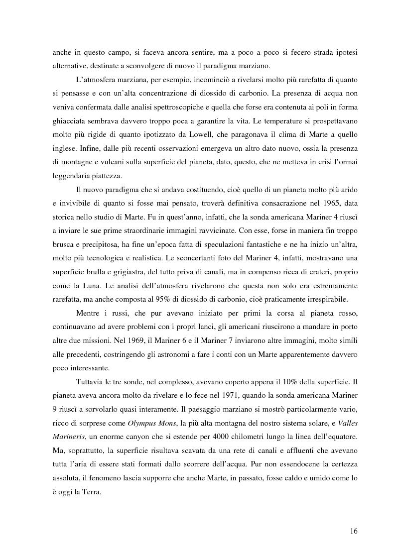 Anteprima della tesi: Il mito di Marte nella fantascienza americana, Pagina 13