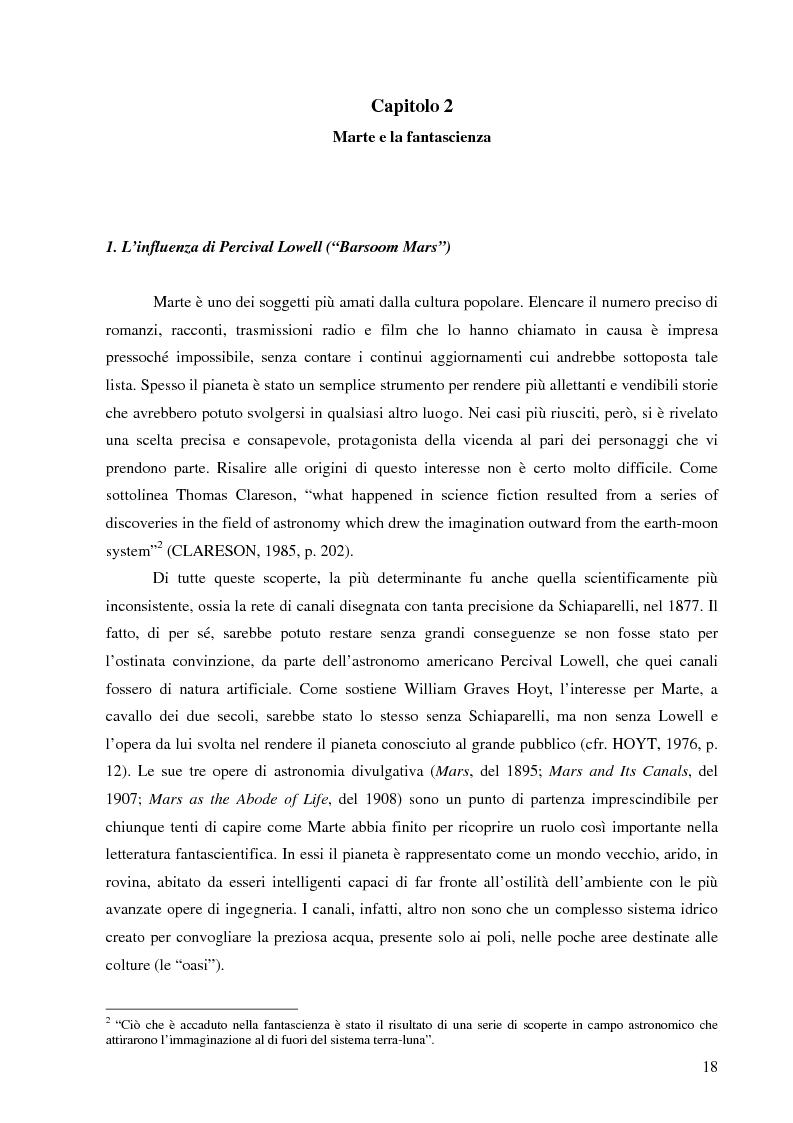 Anteprima della tesi: Il mito di Marte nella fantascienza americana, Pagina 15