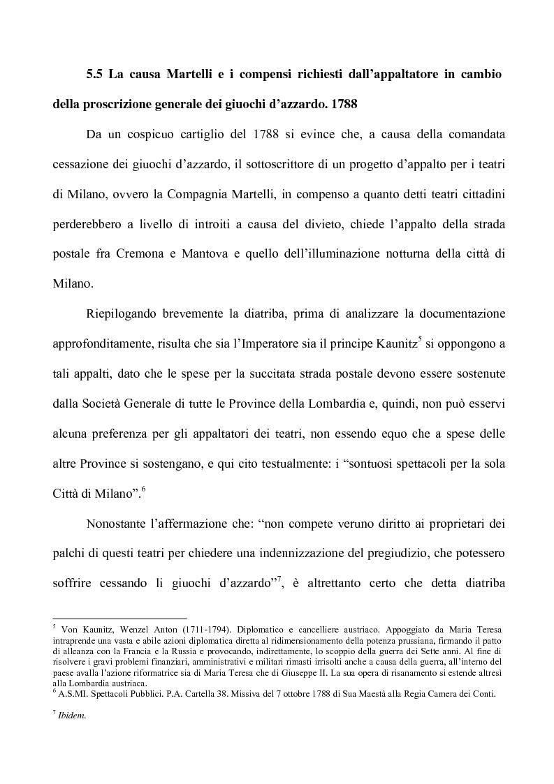Anteprima della tesi: Teatro e Giuoco d'Azzardo a Milano nel Settecento, Pagina 10