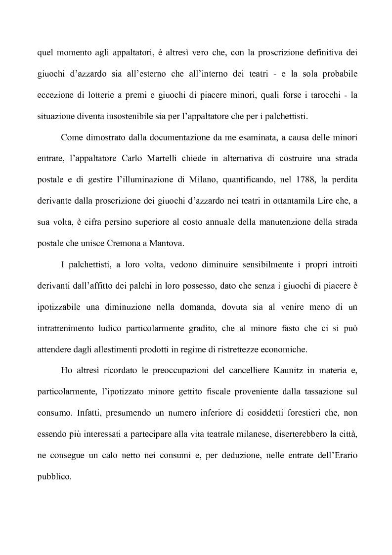Anteprima della tesi: Teatro e Giuoco d'Azzardo a Milano nel Settecento, Pagina 13