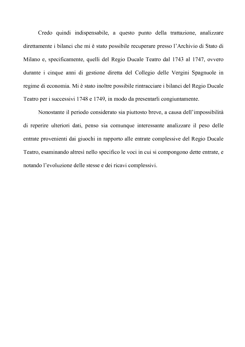 Anteprima della tesi: Teatro e Giuoco d'Azzardo a Milano nel Settecento, Pagina 14