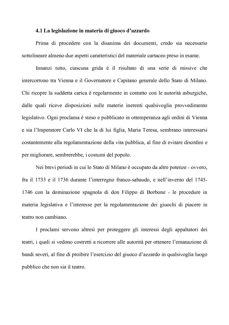 Anteprima della tesi: Teatro e Giuoco d'Azzardo a Milano nel Settecento, Pagina 3