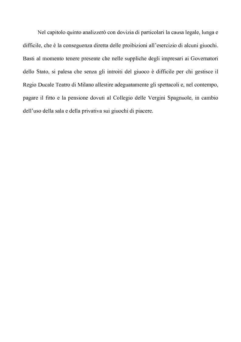 Anteprima della tesi: Teatro e Giuoco d'Azzardo a Milano nel Settecento, Pagina 5