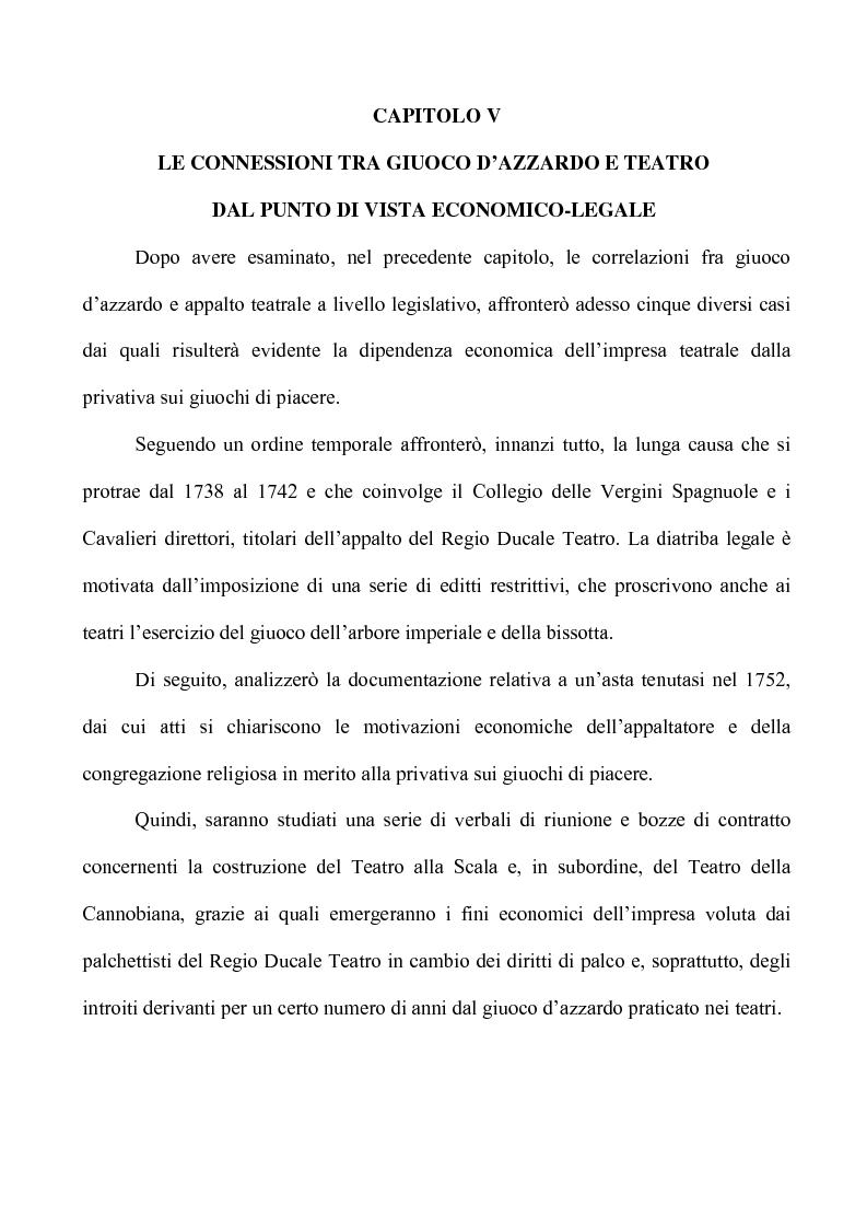 Anteprima della tesi: Teatro e Giuoco d'Azzardo a Milano nel Settecento, Pagina 6