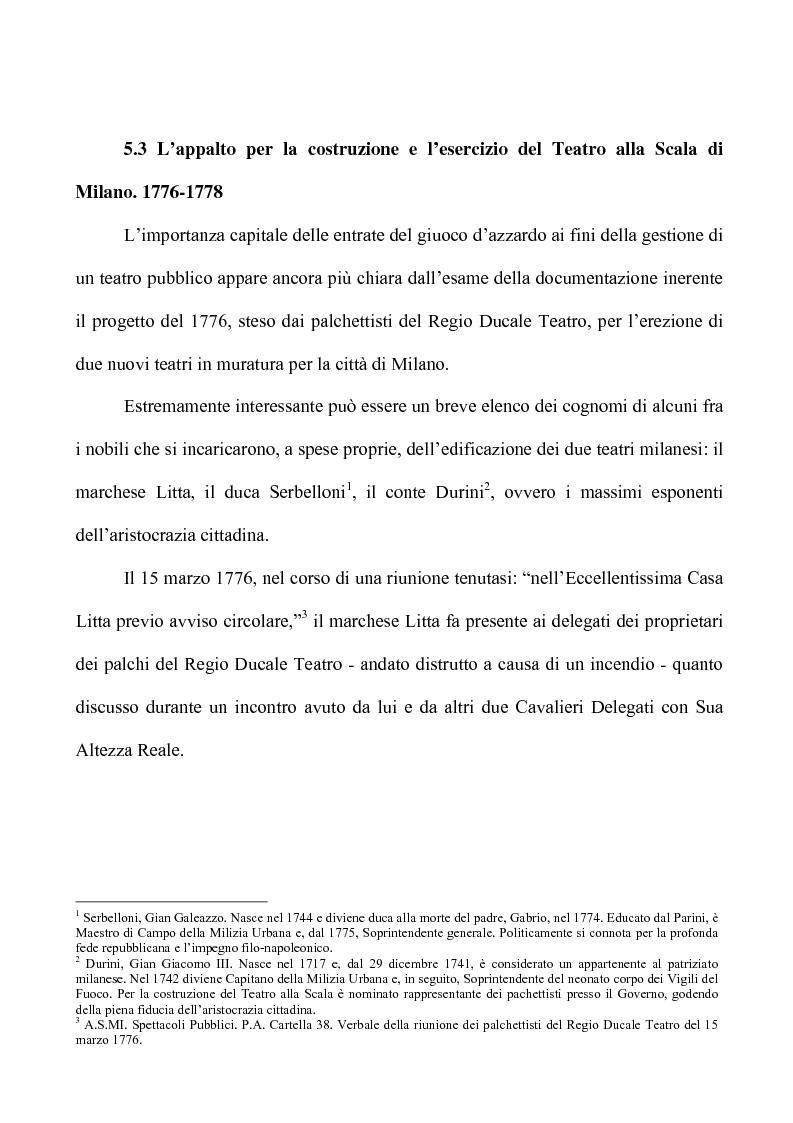 Anteprima della tesi: Teatro e Giuoco d'Azzardo a Milano nel Settecento, Pagina 8