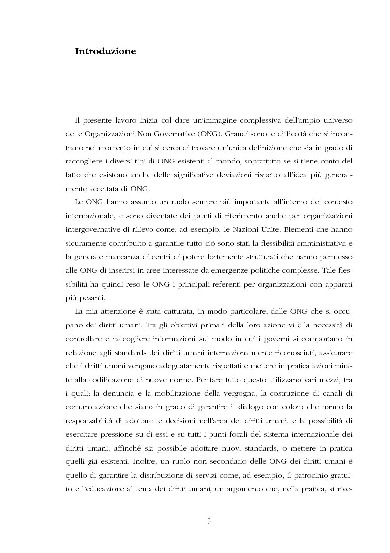 Anteprima della tesi: Amnesty International: comunicare i diritti umani, Pagina 1