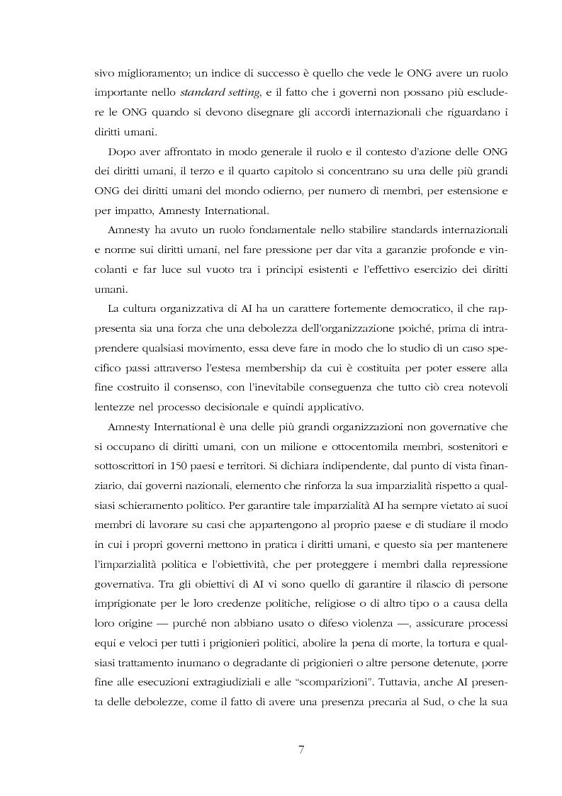 Anteprima della tesi: Amnesty International: comunicare i diritti umani, Pagina 5
