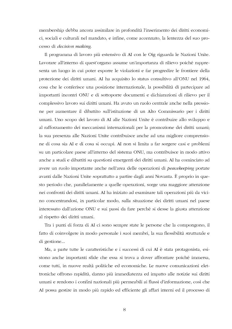 Anteprima della tesi: Amnesty International: comunicare i diritti umani, Pagina 6