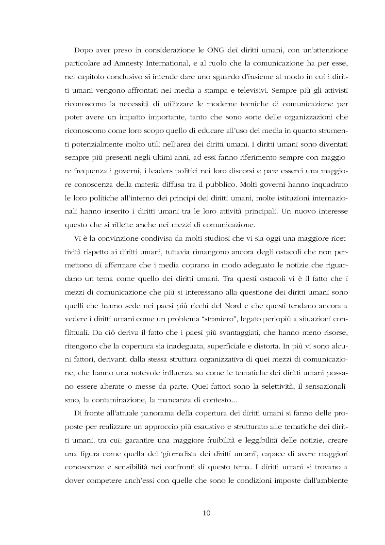 Anteprima della tesi: Amnesty International: comunicare i diritti umani, Pagina 8