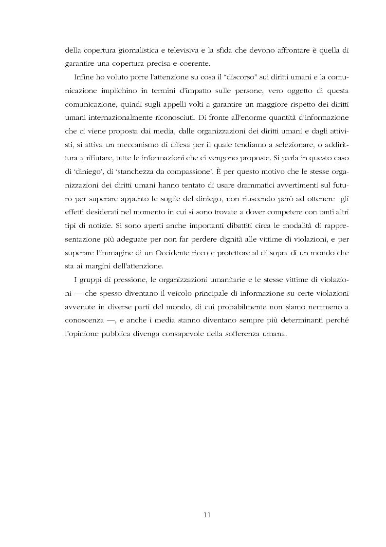Anteprima della tesi: Amnesty International: comunicare i diritti umani, Pagina 9