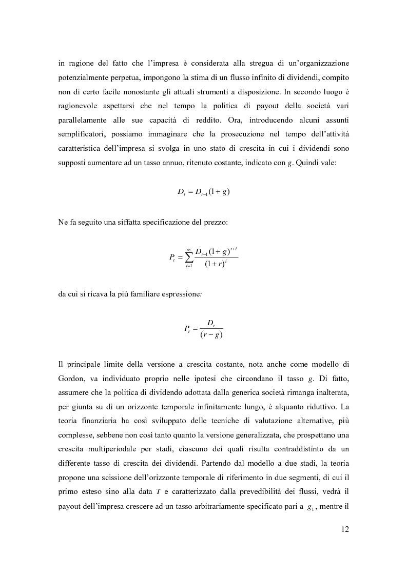Anteprima della tesi: Modelli di pricing per titoli azionari: la valutazione in economie dinamiche, Pagina 12