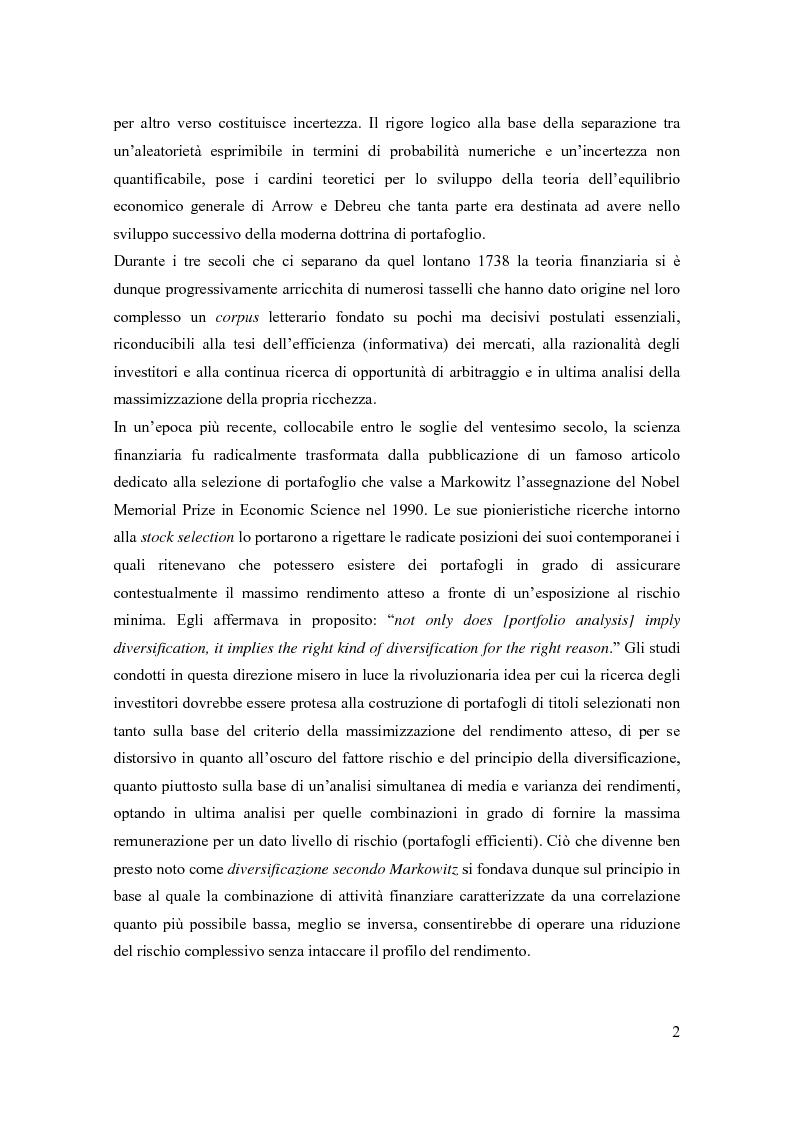 Anteprima della tesi: Modelli di pricing per titoli azionari: la valutazione in economie dinamiche, Pagina 2