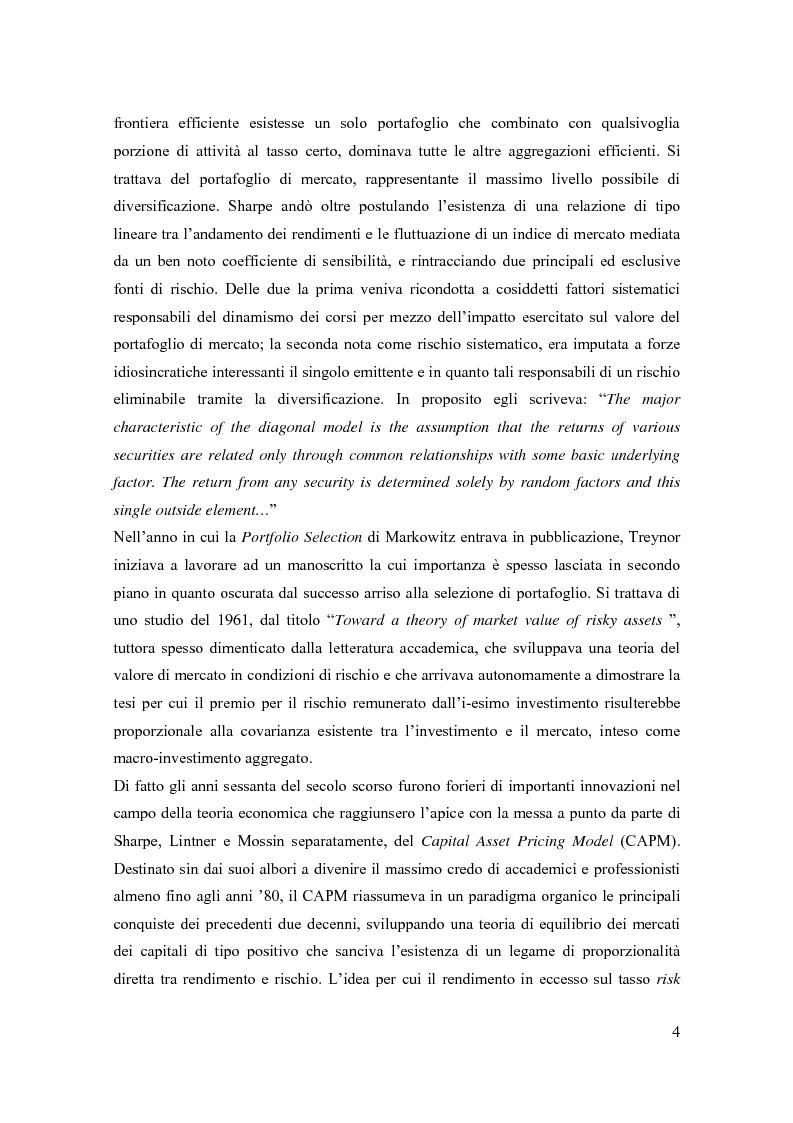 Anteprima della tesi: Modelli di pricing per titoli azionari: la valutazione in economie dinamiche, Pagina 4