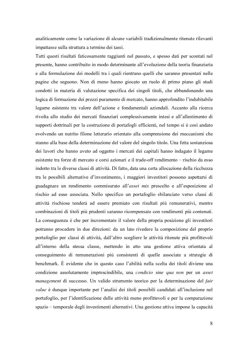 Anteprima della tesi: Modelli di pricing per titoli azionari: la valutazione in economie dinamiche, Pagina 8