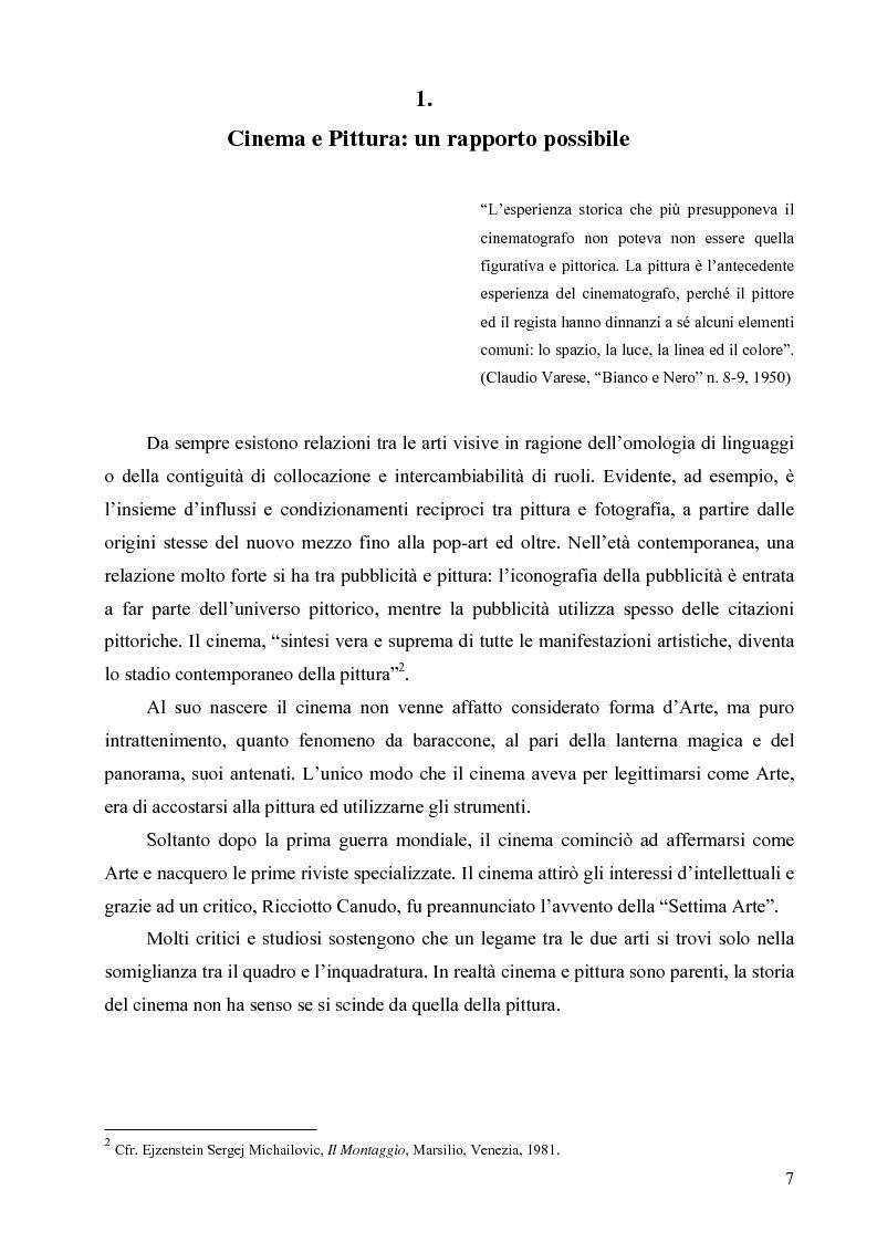 Anteprima della tesi: Riflessi ed echi pittorici nel cinema di Luchino Visconti, Pagina 3