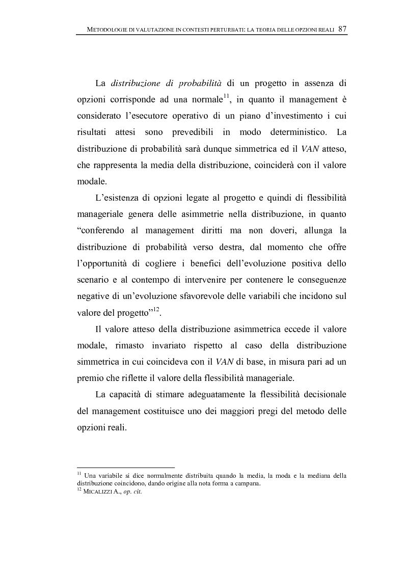 Anteprima della tesi: Opzioni Reali. Valutazione degli investimenti in condizioni di incertezza, Pagina 10