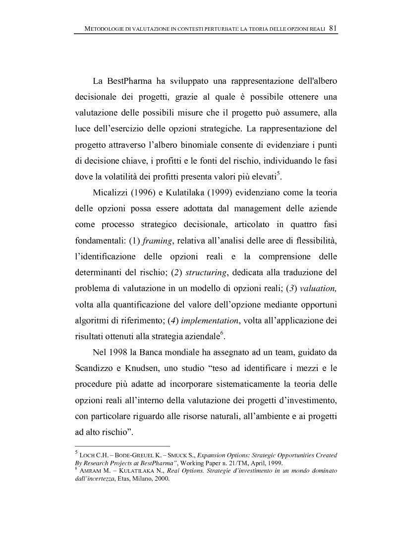 Anteprima della tesi: Opzioni Reali. Valutazione degli investimenti in condizioni di incertezza, Pagina 4