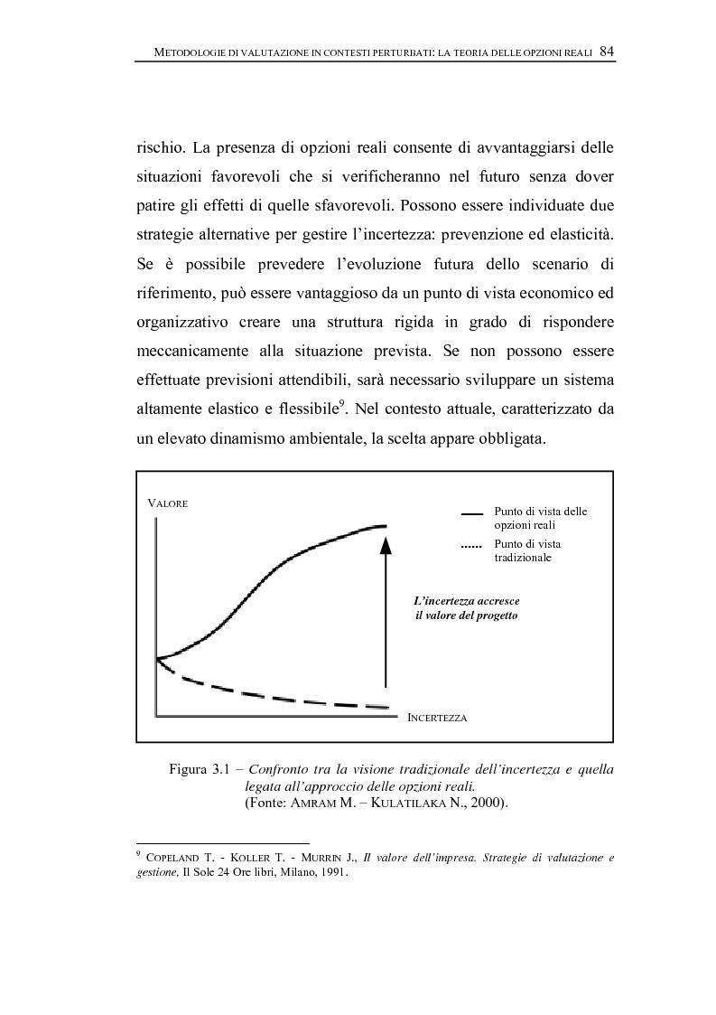 Anteprima della tesi: Opzioni Reali. Valutazione degli investimenti in condizioni di incertezza, Pagina 7