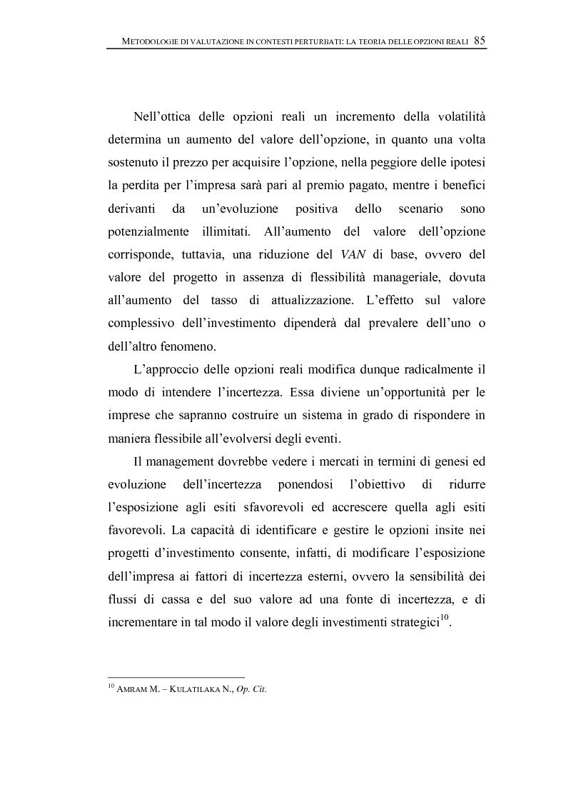 Anteprima della tesi: Opzioni Reali. Valutazione degli investimenti in condizioni di incertezza, Pagina 8