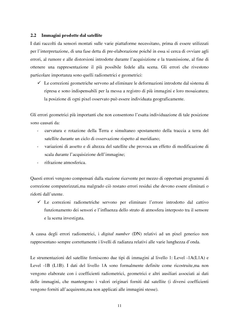 Anteprima della tesi: Analisi della segmentazione delle immagini digitali telerilevate applicata alla classificazione CORINE: proposte di procedure di ottimizzazione, Pagina 11