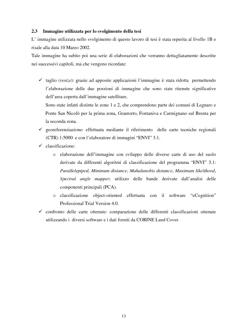 Anteprima della tesi: Analisi della segmentazione delle immagini digitali telerilevate applicata alla classificazione CORINE: proposte di procedure di ottimizzazione, Pagina 13