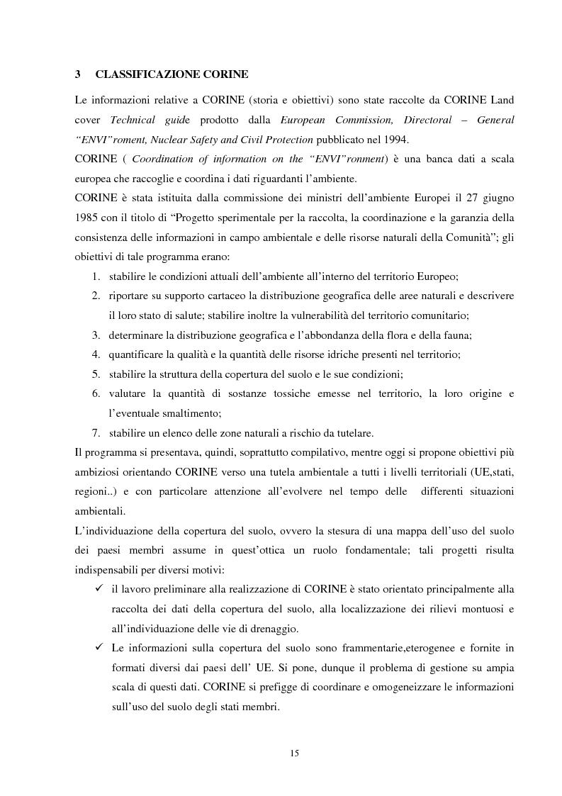 Anteprima della tesi: Analisi della segmentazione delle immagini digitali telerilevate applicata alla classificazione CORINE: proposte di procedure di ottimizzazione, Pagina 15