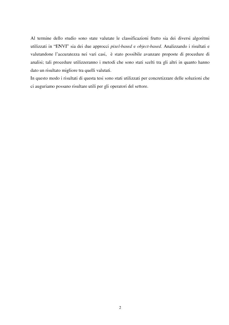 Anteprima della tesi: Analisi della segmentazione delle immagini digitali telerilevate applicata alla classificazione CORINE: proposte di procedure di ottimizzazione, Pagina 2