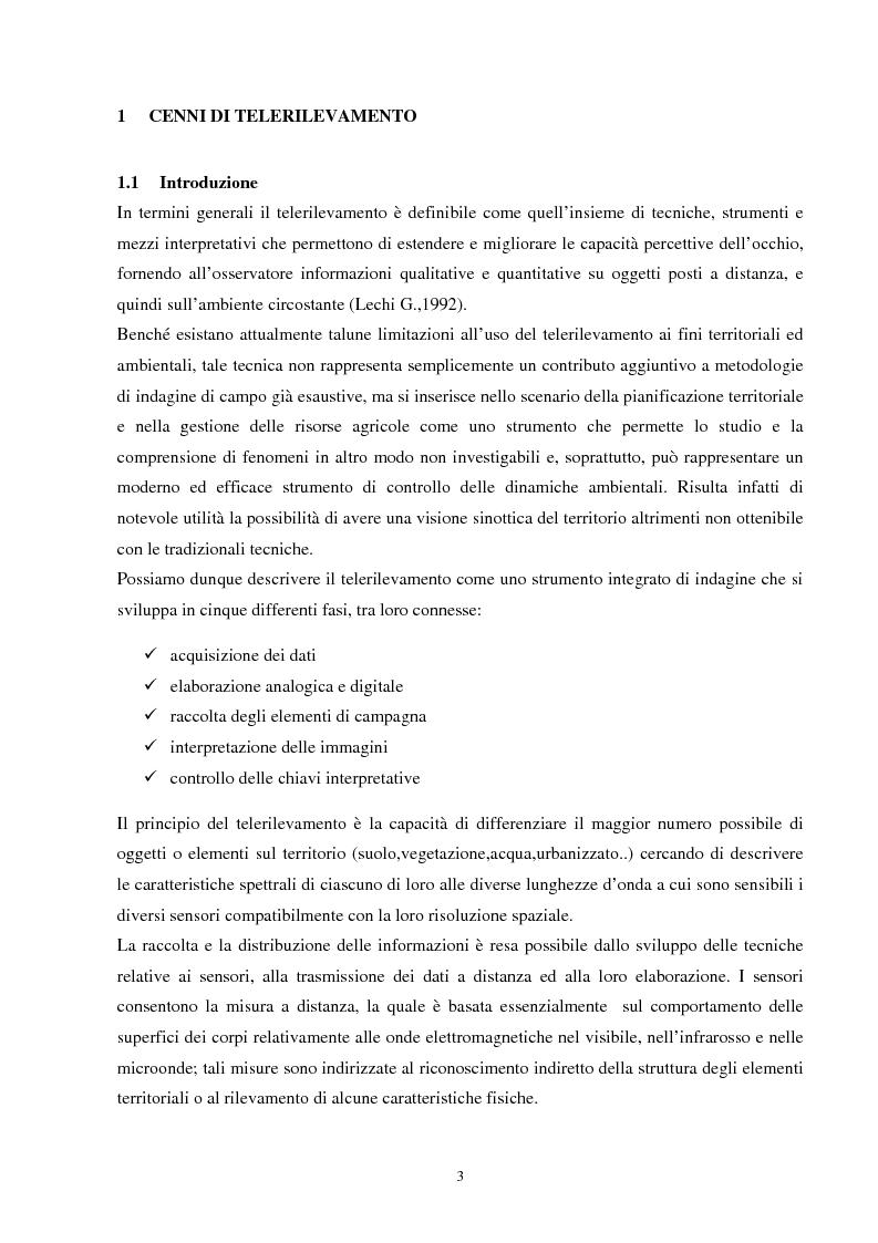 Anteprima della tesi: Analisi della segmentazione delle immagini digitali telerilevate applicata alla classificazione CORINE: proposte di procedure di ottimizzazione, Pagina 3