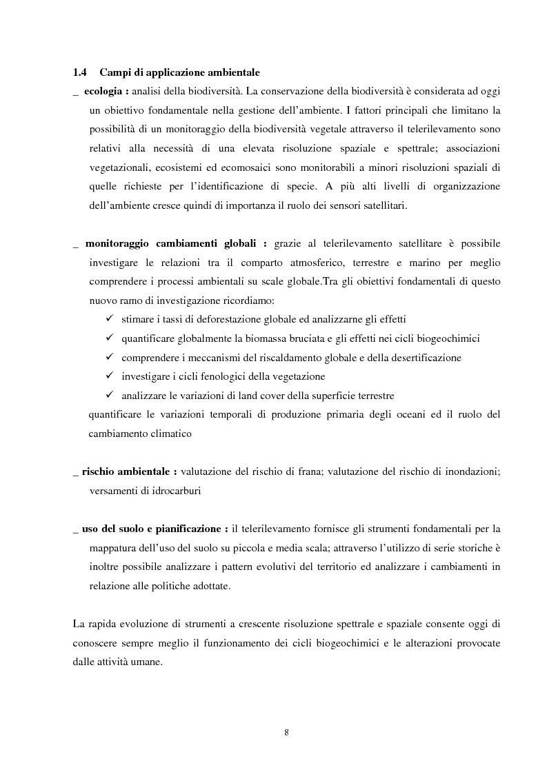 Anteprima della tesi: Analisi della segmentazione delle immagini digitali telerilevate applicata alla classificazione CORINE: proposte di procedure di ottimizzazione, Pagina 8
