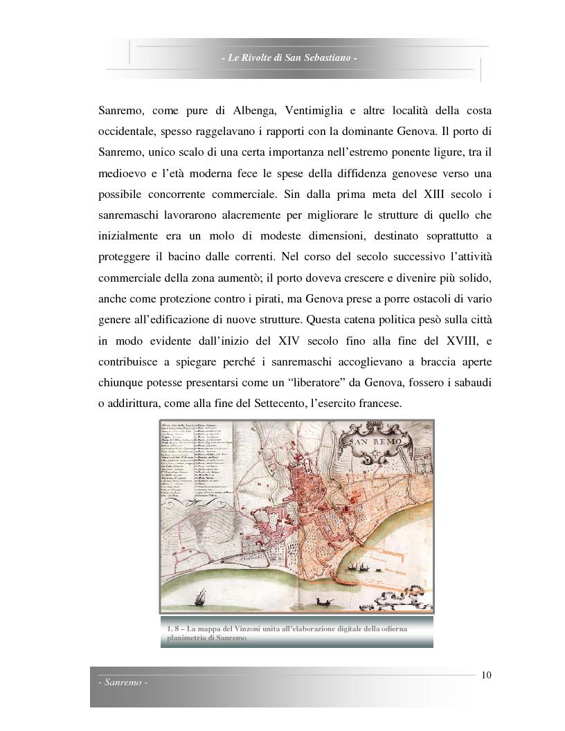 Anteprima della tesi: Le Rivolte di San Sebastiano: Proposta di recupero di un edificio sito nella Pigna di Sanremo, Pagina 10