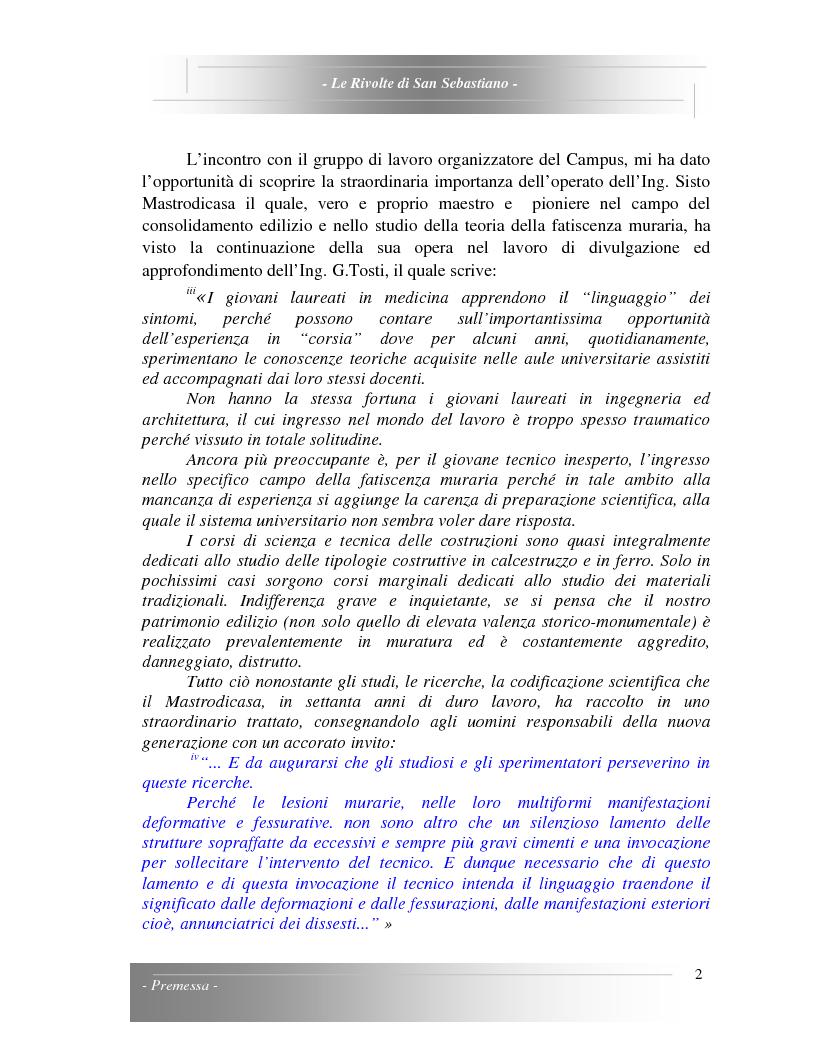 Anteprima della tesi: Le Rivolte di San Sebastiano: Proposta di recupero di un edificio sito nella Pigna di Sanremo, Pagina 2