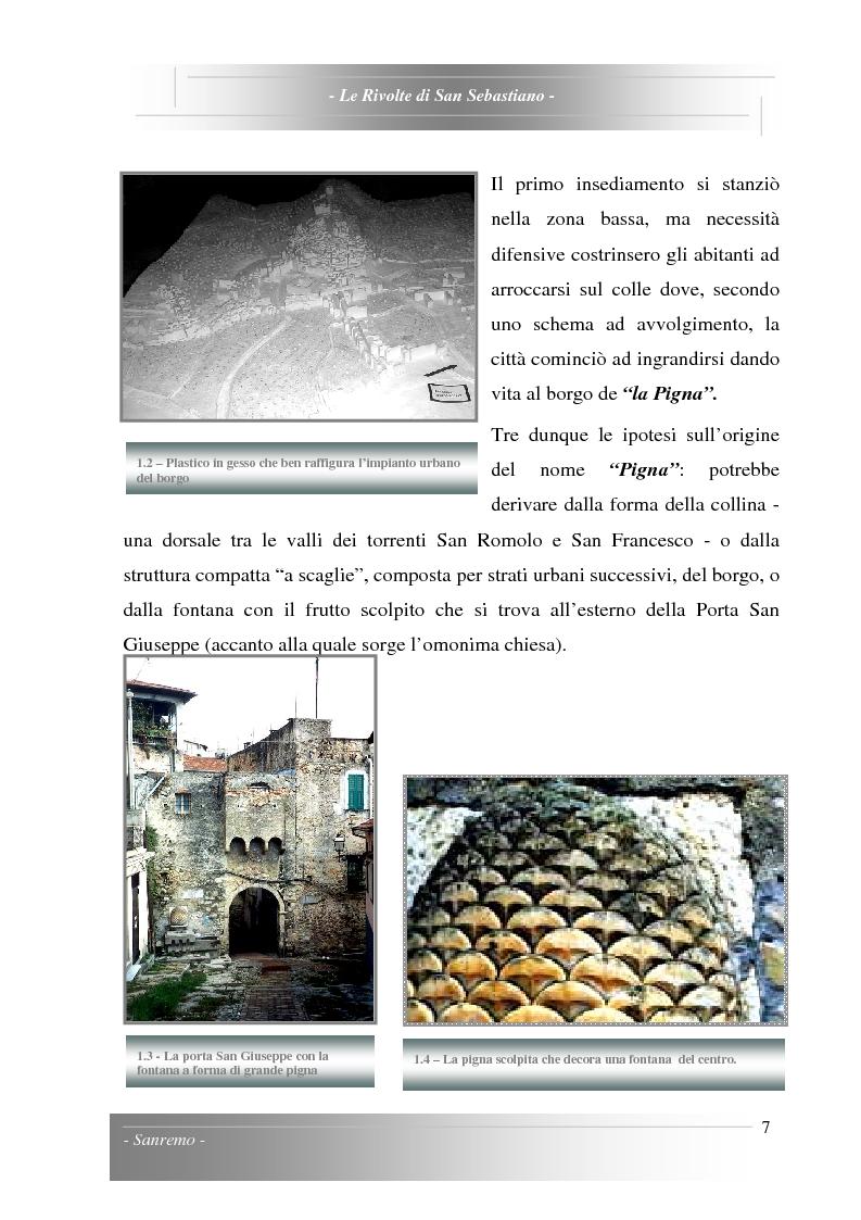 Anteprima della tesi: Le Rivolte di San Sebastiano: Proposta di recupero di un edificio sito nella Pigna di Sanremo, Pagina 7