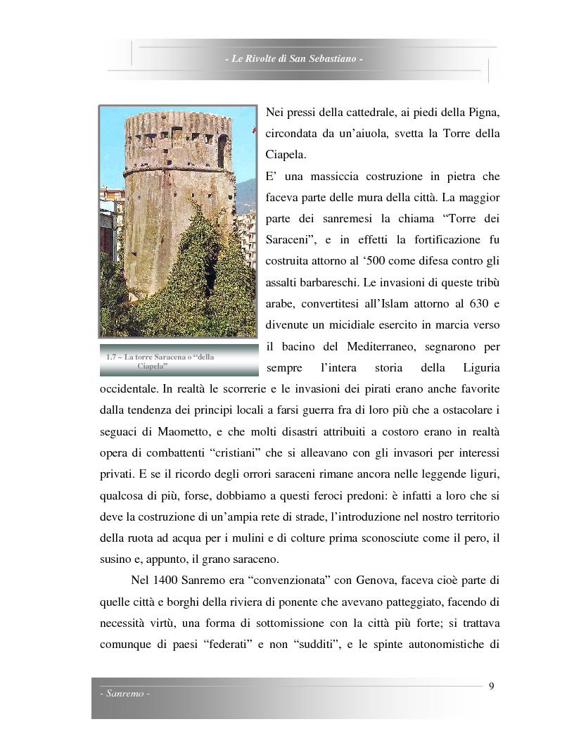 Anteprima della tesi: Le Rivolte di San Sebastiano: Proposta di recupero di un edificio sito nella Pigna di Sanremo, Pagina 9
