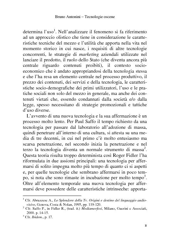 Anteprima della tesi: Tecnologie Oscene. Erotismo e pornografia: contenuti strategici per i nuovi media, Pagina 2