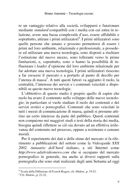 Anteprima della tesi: Tecnologie Oscene. Erotismo e pornografia: contenuti strategici per i nuovi media, Pagina 3
