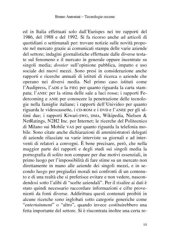 Anteprima della tesi: Tecnologie Oscene. Erotismo e pornografia: contenuti strategici per i nuovi media, Pagina 4