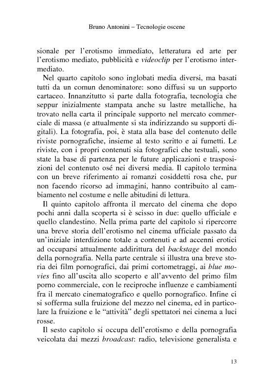 Anteprima della tesi: Tecnologie Oscene. Erotismo e pornografia: contenuti strategici per i nuovi media, Pagina 7