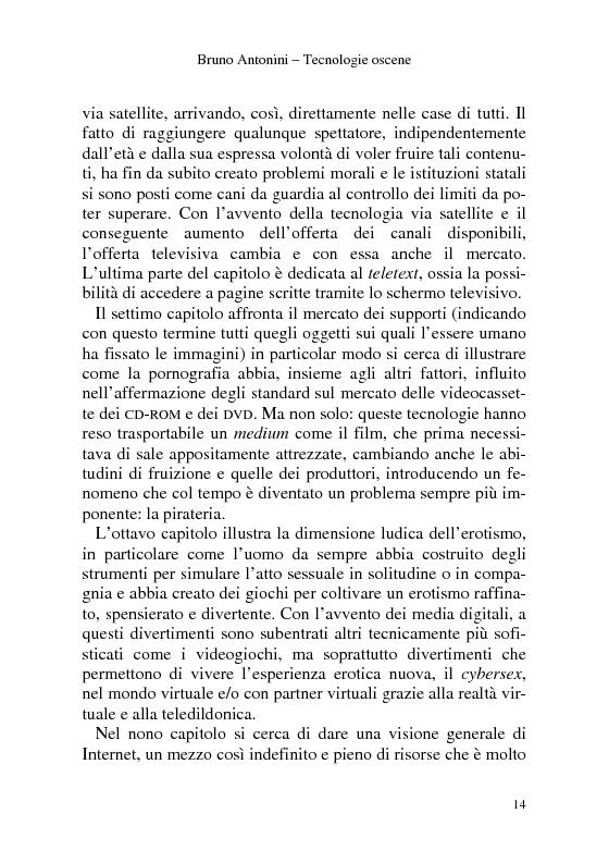 Anteprima della tesi: Tecnologie Oscene. Erotismo e pornografia: contenuti strategici per i nuovi media, Pagina 8