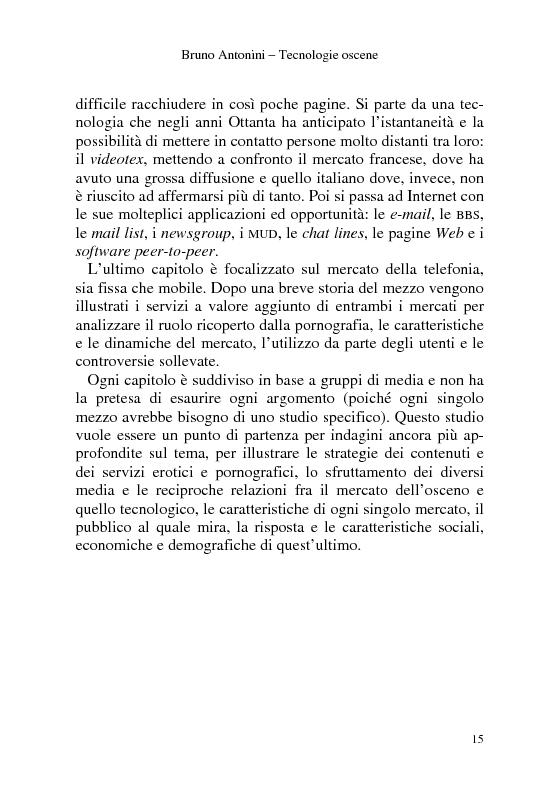Anteprima della tesi: Tecnologie Oscene. Erotismo e pornografia: contenuti strategici per i nuovi media, Pagina 9