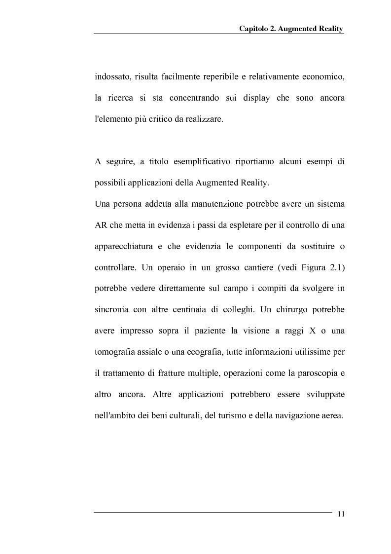 Anteprima della tesi: Merging di immagini digitali in un sistema prototipale di augmented reality, Pagina 6