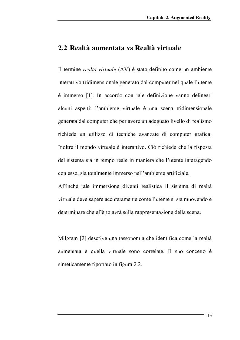 Anteprima della tesi: Merging di immagini digitali in un sistema prototipale di augmented reality, Pagina 8