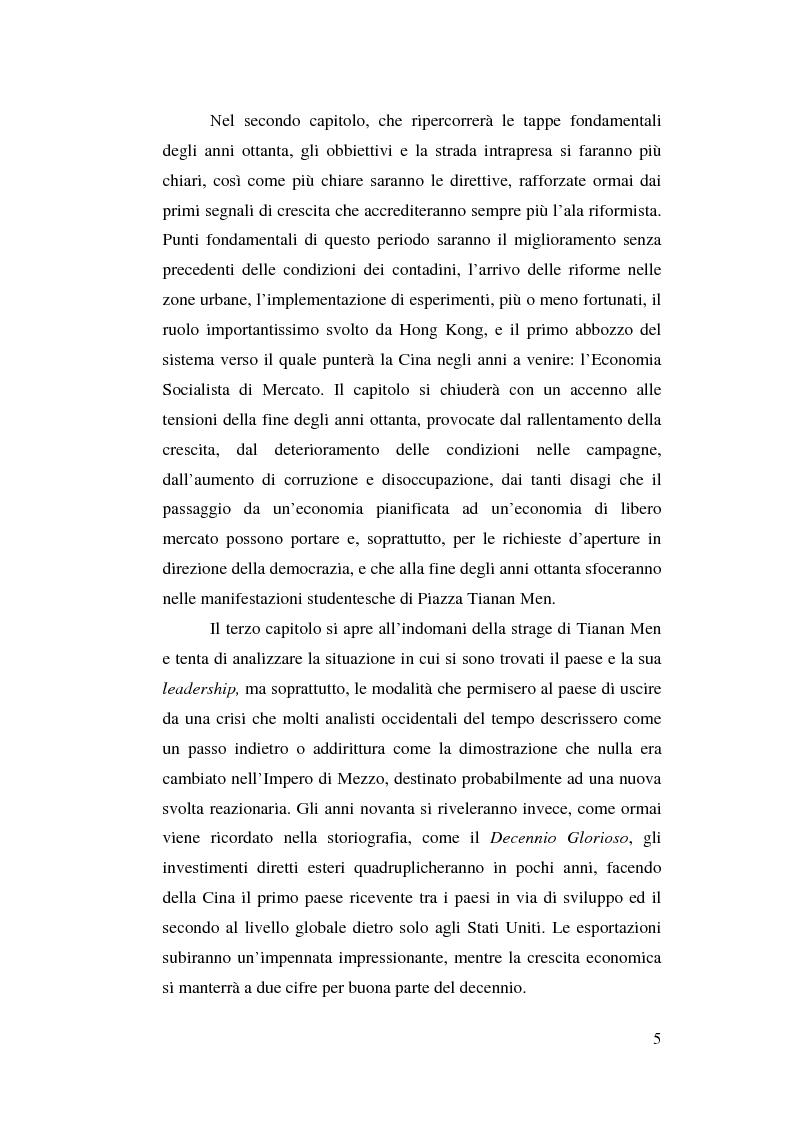 Anteprima della tesi: Venticinque anni di riforme in Cina: vittorie e contraddizioni di una nuova potenza mondiale, Pagina 2