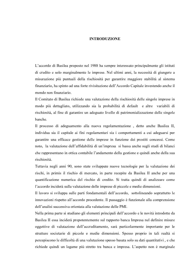 Anteprima della tesi: Basilea 2 e la valutazione delle pmi un'applicazione del settore del turismo, Pagina 1