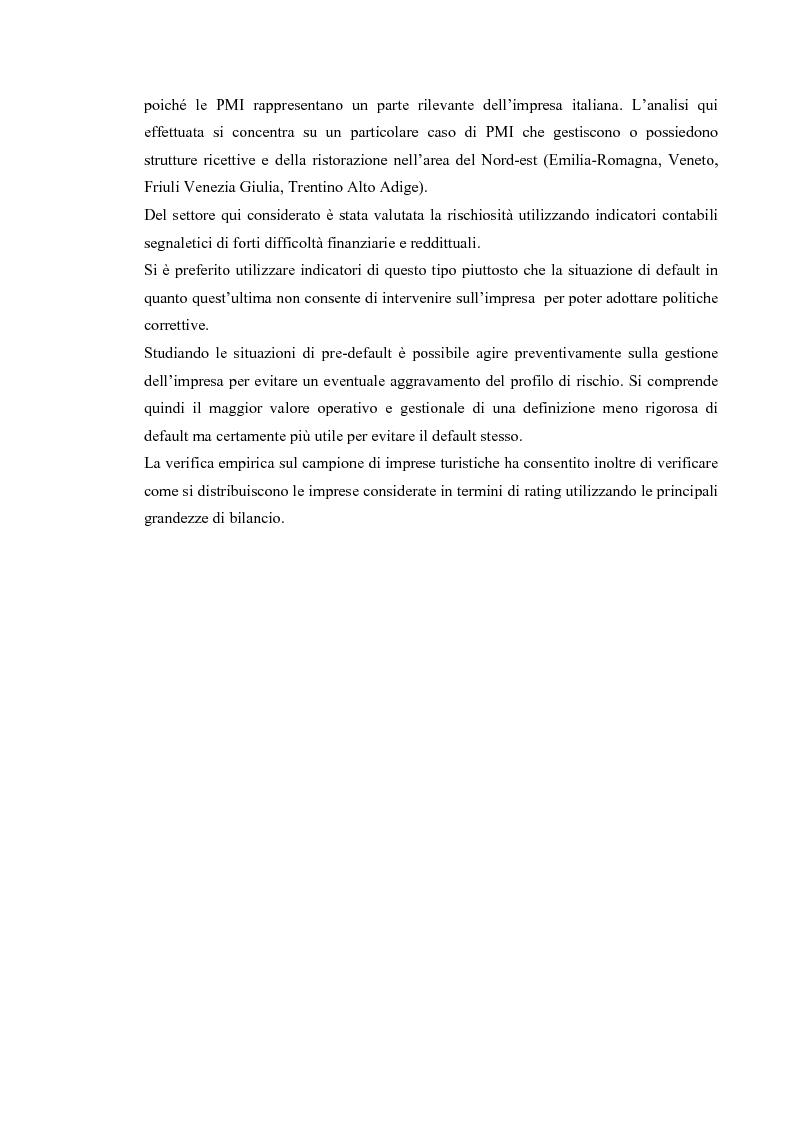Anteprima della tesi: Basilea 2 e la valutazione delle pmi un'applicazione del settore del turismo, Pagina 2