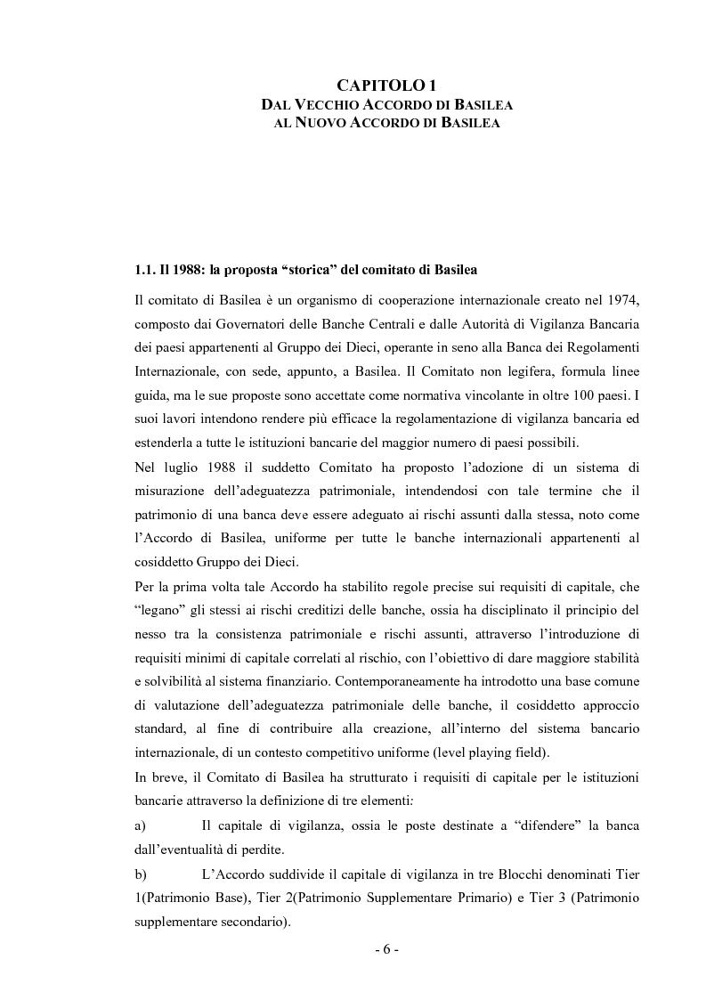 Anteprima della tesi: Basilea 2 e la valutazione delle pmi un'applicazione del settore del turismo, Pagina 3