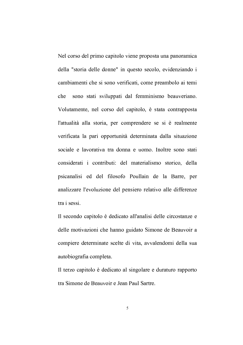 Anteprima della tesi: Femminismo e impegno civile in Simone De Beauvoir, Pagina 3
