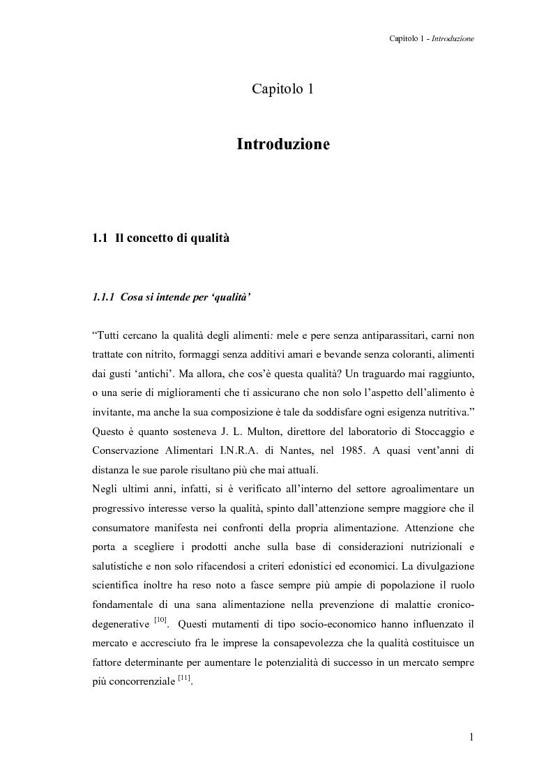 Anteprima della tesi: Sperimentazione di un sistema dinamico per la selezione Vis-NIR della frutta, Pagina 1