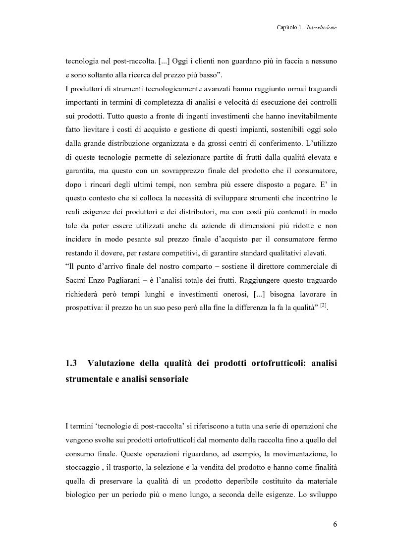 Anteprima della tesi: Sperimentazione di un sistema dinamico per la selezione Vis-NIR della frutta, Pagina 6