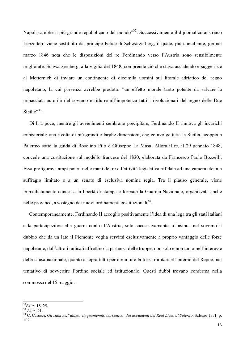 Anteprima della tesi: Nati, matrimoni e morti a Salerno dal 1830 all' Unità, Pagina 11