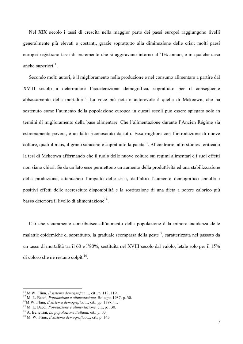 Anteprima della tesi: Nati, matrimoni e morti a Salerno dal 1830 all' Unità, Pagina 5